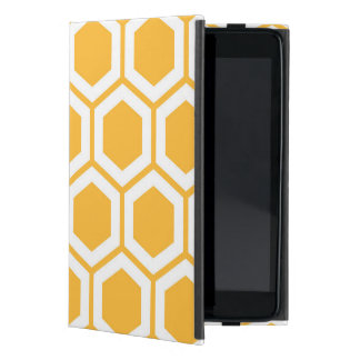 Golden Honeycomb Pattern Cover For iPad Mini