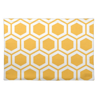 Golden Honeycomb Pattern Placemat