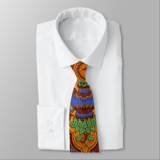 Golden Hong Kong Design Tie
