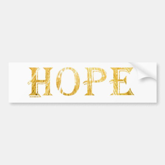 Golden Hope Text Bumper Sticker