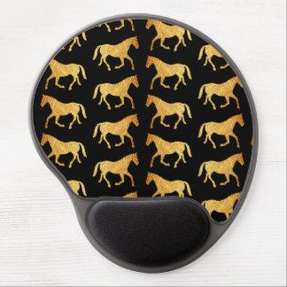 Golden Horses Gel Mouse Pad