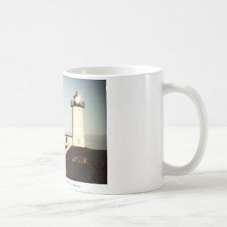 Golden Hour Nubble Lighthouse coffee mug
