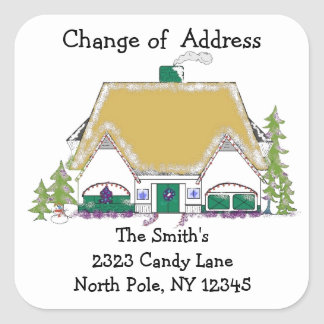 Golden House Change of Address Square Sticker