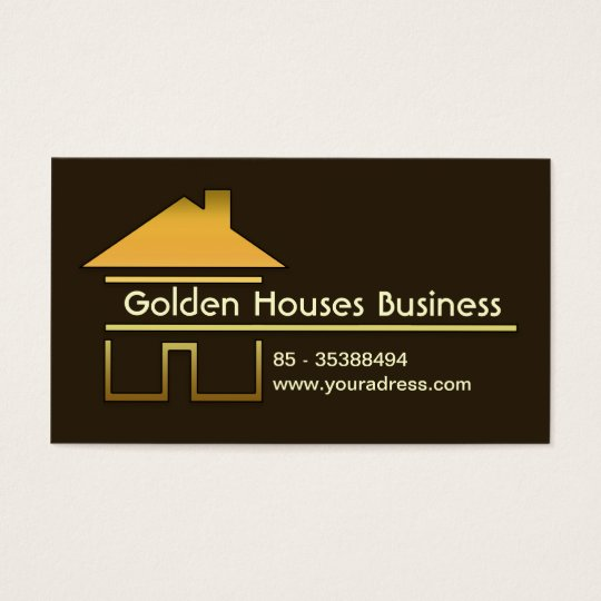 golden houses business card