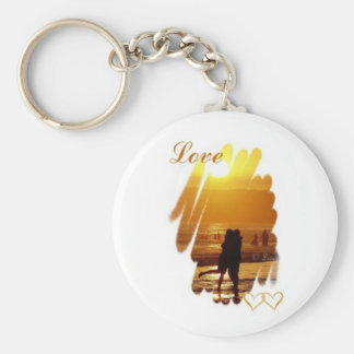 Golden Hug Love Keychains