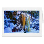 Golden Icefall - Smarts Brook No 1 Greeting Cards