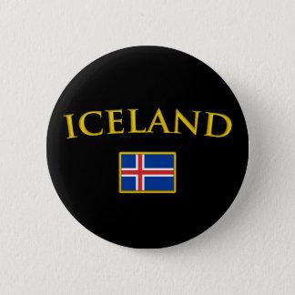 Golden Iceland 6 Cm Round Badge