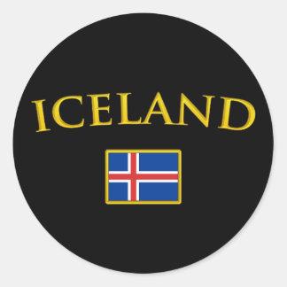 Golden Iceland Classic Round Sticker