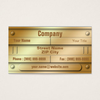 Golden ID Plate Business Card