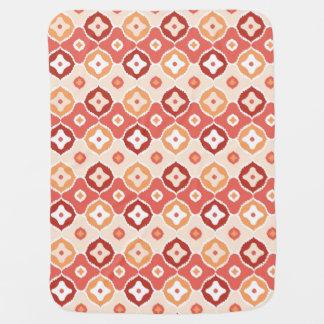 Golden ikat geometric pattern baby blanket