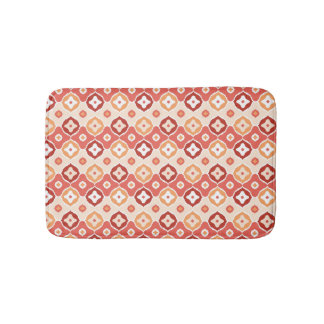 Golden ikat geometric pattern bath mat