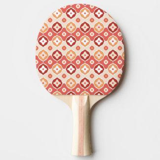 Golden ikat geometric pattern ping pong paddle