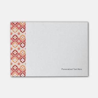 Golden ikat geometric pattern post-it notes
