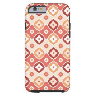 Golden ikat geometric pattern tough iPhone 6 case