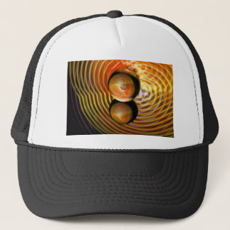 Golden in the crystal ball trucker hat