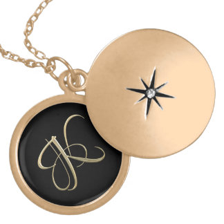 Golden initial K monogram Gold Plated Necklace