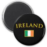 Golden Ireland 6 Cm Round Magnet