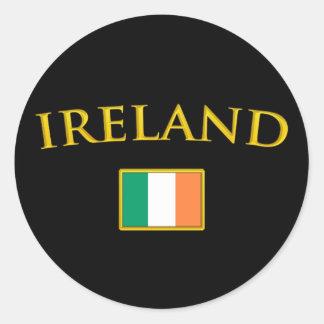 Golden Ireland Classic Round Sticker