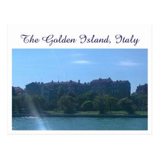 Golden Island, Italy Postcard