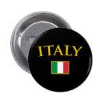 Golden Italy 6 Cm Round Badge