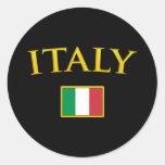 Golden Italy Classic Round Sticker