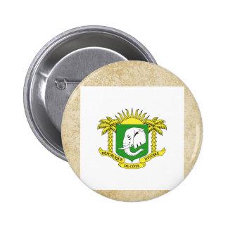 Golden Ivory Coast Flag 6 Cm Round Badge