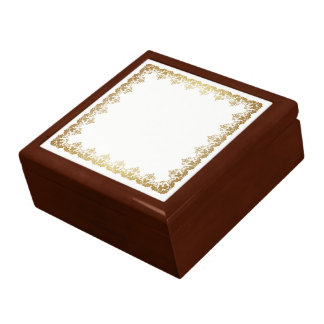 Golden Jabot Jewelry Box