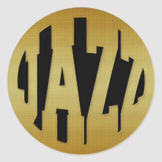 GOLDEN JAZZ ROUND STICKER