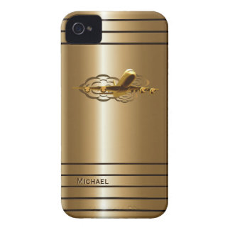 Golden Jet Airliner Aircraft iPhone 4 Case