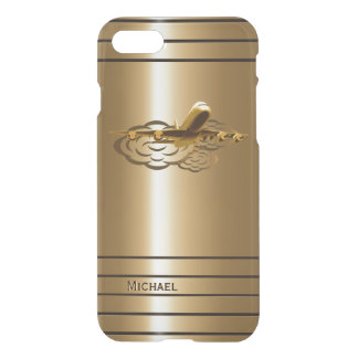Golden Jet Airliner Aircraft iPhone 8/7 Case