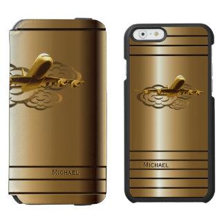 Golden Jet Airliner Aircraft Incipio Watson™ iPhone 6 Wallet Case
