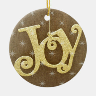 Golden Joy Christmas Ornament