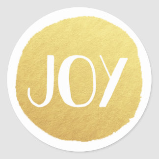 Golden Joy Holiday Sticker