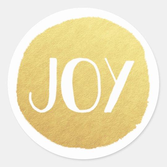 Golden Joy Holiday Sticker