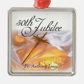 Golden Jubilee Religious Life, Cross Candle Christmas Ornament