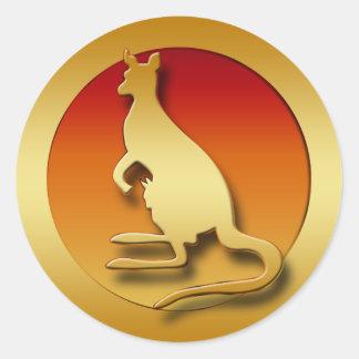 GOLDEN KANGAROO CLASSIC ROUND STICKER
