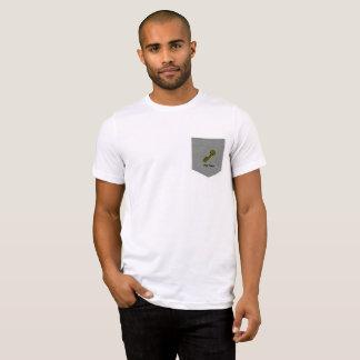 Golden Key in Pocket, Preppy Penguin on Back T-Shirt