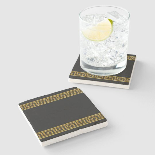Golden Key Stone Coaster