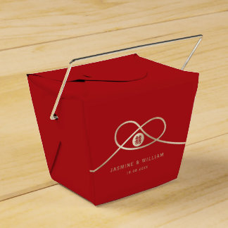 Golden Knot Double Happiness Red Wedding Favor Box Favour Box