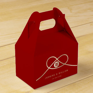 Golden Knot Double Happiness Red Wedding Favor Box Party Favour Box