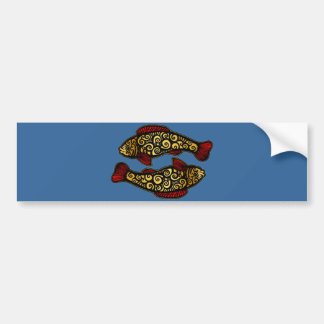 Golden Koi Bumper Sticker
