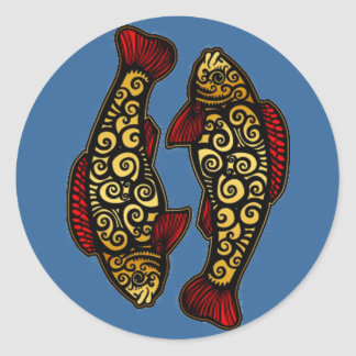 Golden Koi Classic Round Sticker
