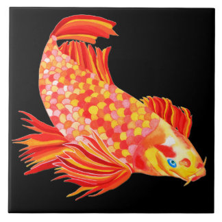 Golden Koi design decorative tile