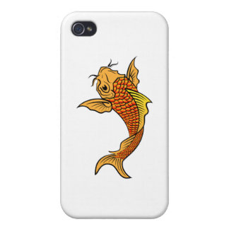 Golden Koi Fish Cases For iPhone 4