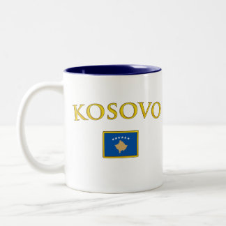 Golden Kosovo Two-Tone Coffee Mug