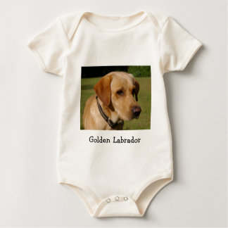 Golden Labrador Baby Bodysuit