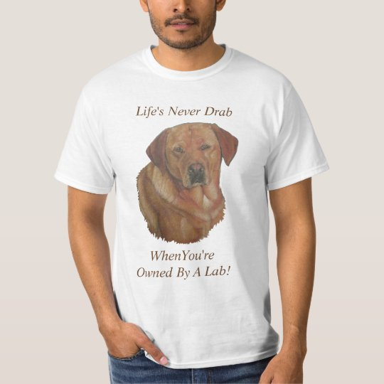 golden labrador dog portrait art with fun slogan