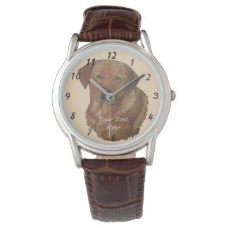 golden labrador dog portrait realist art wristwatch