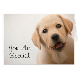 Golden Labrador Puppy Card