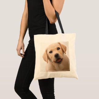 Golden Labrador Puppy Tote Bag